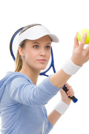pic of blonde woman  - Tennis player  - JPG