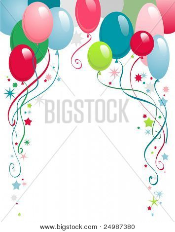 poster of happy birthday  background with space for text