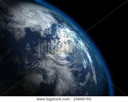 Постер, плакат: Прекрасной планеты Земля из космоса некоторые более в моем портфолио, холст на подрамнике