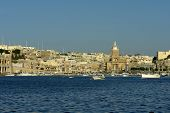 picture of mosk  - ancient architecture of malta island at the port - JPG