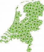 Map of Holland (Europe)