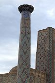 Minaret Of Madrasa Of Ulugh Beg In Samarkand