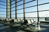 sunny lounge in airport