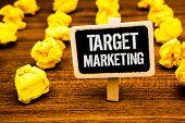 Handwriting Text Writing Target Marketing. Concept Meaning Market Segmentation Audience Targeting Cu poster