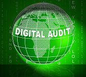Digital Audit Cyber Network Examination 3D Illustration poster