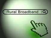 Rural Broadband Countryside Data Connection 2D Illustration poster