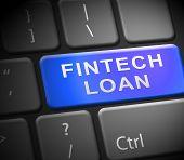 Fintech Loan P2P Finance Credit 3D Illustration poster