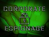 Corporate Espionage Covert Cyber Hacking 2D Illustration poster