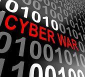 Cyberwar Virtual Warfare Hacking Invasion 3D Illustration poster