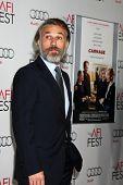 LOS ANGELES - NOV 5:  Christoph Waltz arrives at the AFI FEST 2011 Gala Screening of