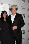 LOS ANGELES - NOV 5:  Alison Dickey, John C. Reilly arrives at the AFI FEST 2011 Gala Screening of