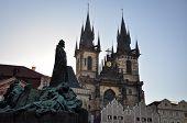 Prague Old Town Square at Sunrise