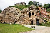 caves at nottingham castle, uk