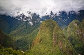Panoramic View To Machu Picchu Archaeological Site With Polygonal Masonry In Cuzco, Peru poster