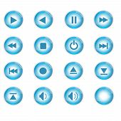 16 Blue Crystal Music Icons