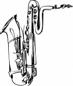 sketch woodwind musical instrument orchestra clarinet