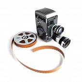 Vintage Movie Camera And Film