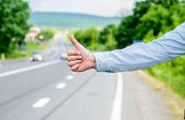 Thumb Up Gesture Meaning. Cultural Difference. Hitchhiking Gesture. Thumb Up Inform Drivers Hitchhik poster