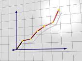 Chart. 3d rendering image.