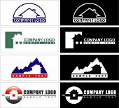 Logotypes about of habitation or construction.