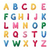Abs Font Jelly Alphabet For Kids Isolated Letter Text Vector Illustration. Style Typeface Symbol Fun poster