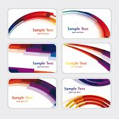 set of templates for business cards. Eps10
