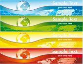 World banner set vector illustration.