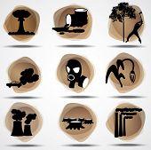Conjunto de anti eco símbolos.
