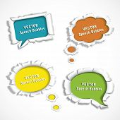 vector paper speech bubbles