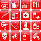 Medicine. Icons set. ( Vector)