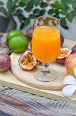 Orange Juice Or Passion Juice Or Mixed Juice poster
