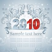 Greeting card. New year. Vector.