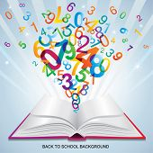 Back to SCHOOL template. Abstract background.