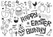 i love my happy easter bunny doodles