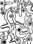 Funny canibals doodles
