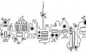 Berlin creatures skyline souvenirs doodles