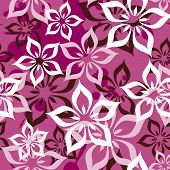 Seamless lilly flowers pattern in vector
