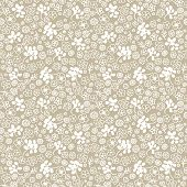 Seamless doodle flowers pattern in vector
