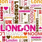 I love london typography background pattern in vector