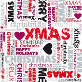 i love the holidays seamless christmas pattern in vector