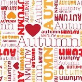 I love autumn seamless background pattern in vector