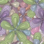 Padrão de hippie poder em vetor de flores sem costura dos anos sessenta