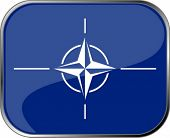 NATO flag icon with official coloring