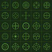 picture of crosshair  - crosshairs - JPG