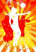 Постер, плакат: танцы женщин в диско