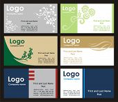 Collection business cards templates