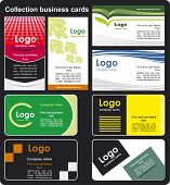 Collection business cards templates 3