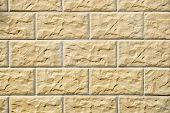 The Texture Of Masonry Stone Walls Of Different Sizes poster
