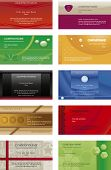 Collection business cards templates  6