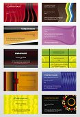Collection vector background for horizontal business cards